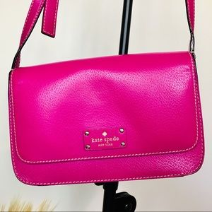 Leather KATE SPADE crossbody bag. Hot pink.